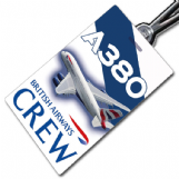 British Airways A380 Crew Tag